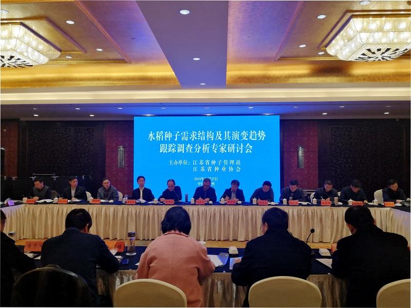 水稻yabo88app2019需求结构及其演变趋势跟踪调查分析专家研讨会在泰州召开